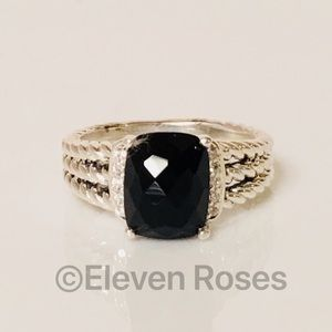 David Yurman Black Onyx & Diamond Wheaton Ring